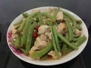 四季豆烧豆腐