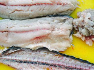 鲅鱼饺子,这是片出来的鱼肉