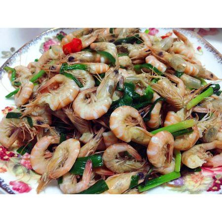 韭菜炒小虾