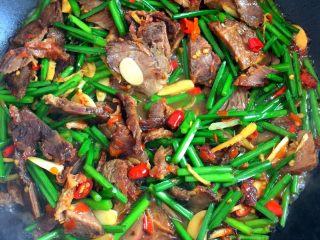 韭菜花炒酱牛肉