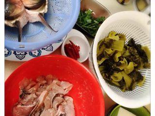 酸菜魚,所有材料