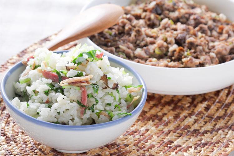 一鍋兩菜 上海菜飯+梅菜蒸肉餅