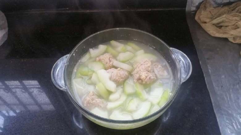时令鲜蔬冬瓜丸子汤