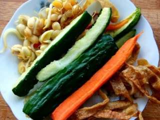 杂蔬煎饼,剩下的蔬菜蛋皮