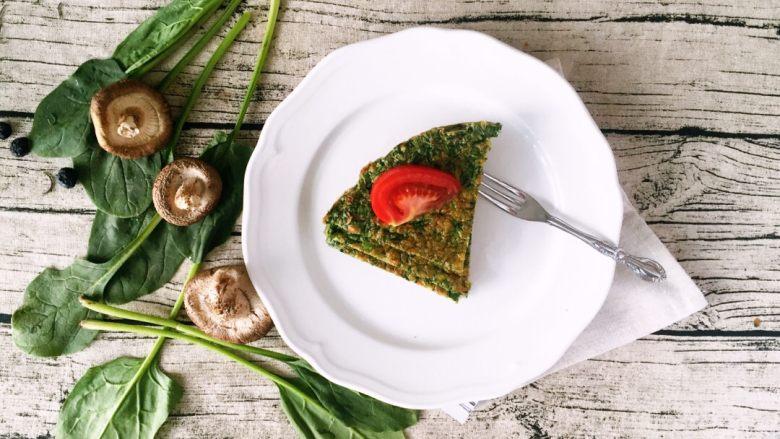 健康低卡餐-菠菜早餐面包