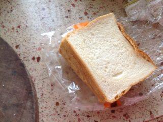 自制三明治,取面包片