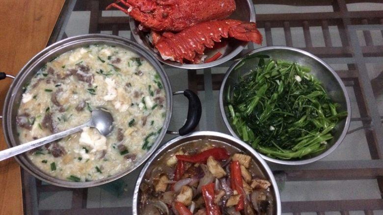 龙虾瑶柱牛肉海鲜粥