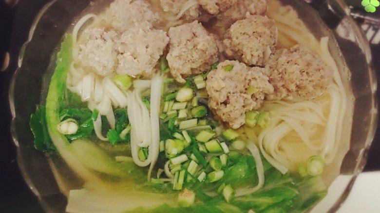 肉丸鲜汤面