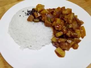 咖喱米饭,来一碗白🍚~拌起来吃吧~