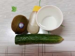 黄瓜猕猴桃汁,食材