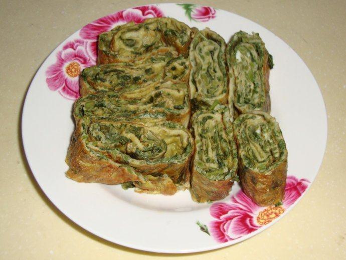 香椿新吃法——香椿鸡蛋卷