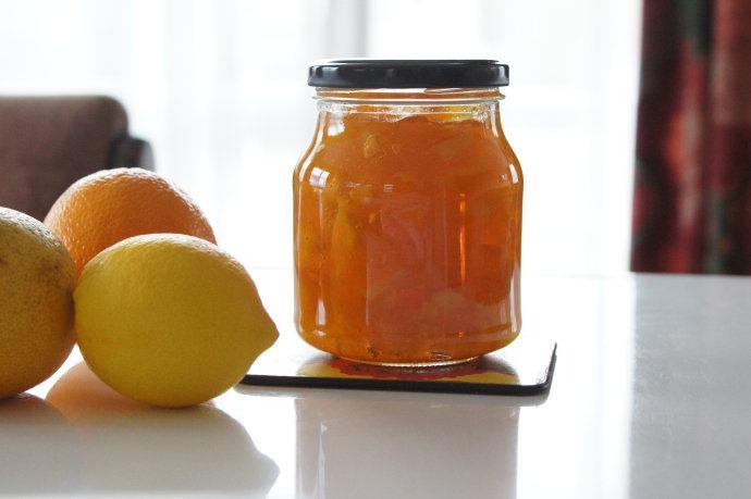 葡萄柚橘子果酱和柚子茶