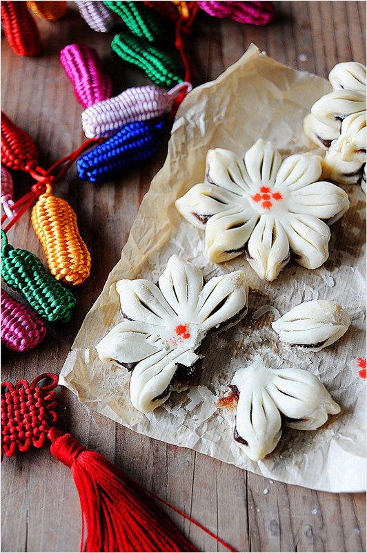 #夏天的味道#花朵豆沙酥