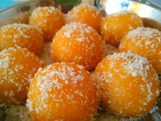 南瓜丸子#夏天的味道#,也可以炸着吃