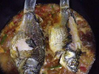 烧鲫鱼,烧开后把鱼放进去两都各煮5分钟再放鸡精