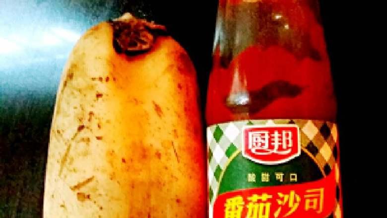 糖醋莲藕+#夏天的味道#,莲藕,<a style='color:red;display:inline-block;' href='/shicai/ 753'>番茄沙司</a>。