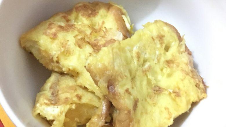 面包配鸡蛋液