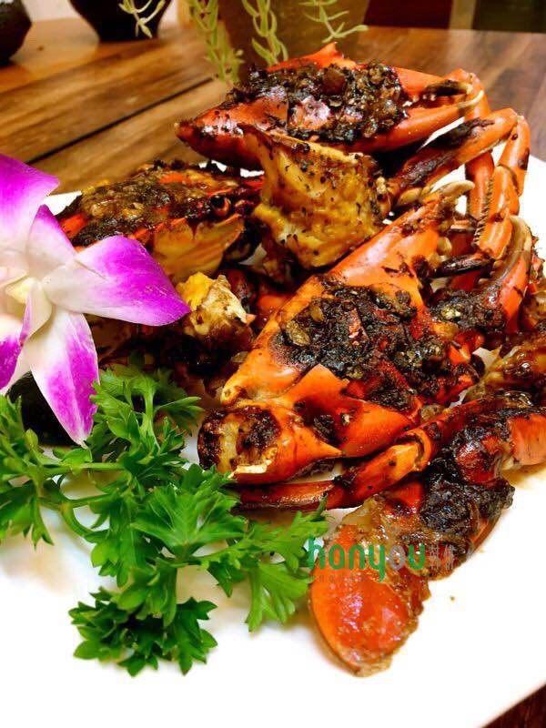 韩优空气炸锅---精致黑椒青蟹,想吃吗?