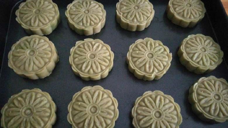 纯绿豆糕,抹茶绿豆糕
