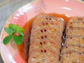 红糖桂花糯米藕
