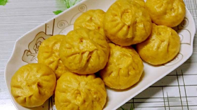 南瓜包子(小葱鲜肉馅)