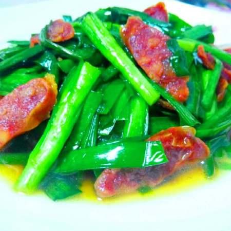 腊肠炒韭菜