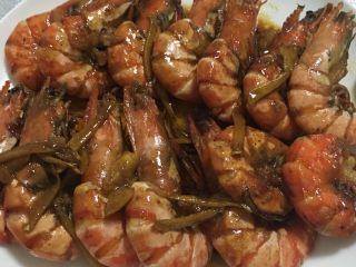 #年夜饭#酱爆鲜虾,再来一张近图。