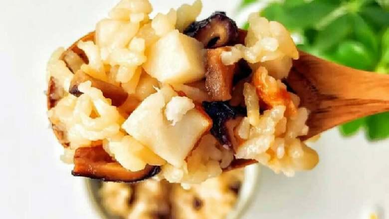 宝宝辅食:芋头香菇炊饭