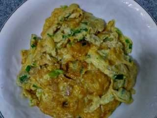 丁香鱼煎蛋