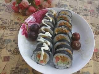 简单寿司,如此简单的寿司就做好了