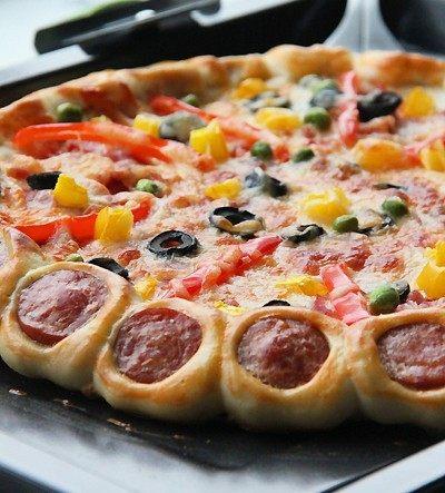 【花边培根披萨】换着花样吃披萨