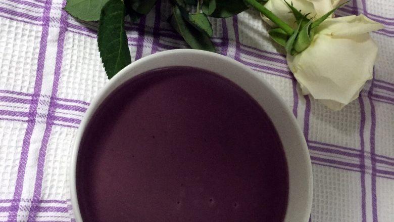 红豆薏米紫薯羹