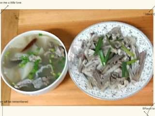 羊肉+羊骨头萝卜汤,羊骨头萝卜汤非常好吃。