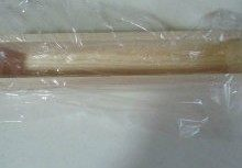 秋意浓,坚果香----松子饼干,用保鲜膜垫入饼干盒模具中;