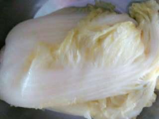 东北酸菜,40天后,即可实用。 好的酸菜,整体呈淡黄色,有光泽,黄玉一般。口感酸爽,生吃中间的酸菜芯蘸蒜蓉辣酱,或者做酸菜炖排骨等炖菜,或者炒酸菜粉丝,都是味道不错的家常东北菜。