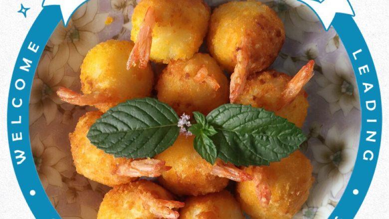土豆泥虾仁丸