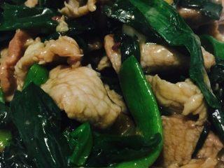 蒜苗炒肉,成品,一道简单的家常菜就完成了,食欲有木有?
