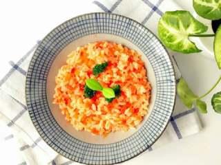 宝宝辅食:日式红色茄汁烩饭-10分钟红色系开胃饭,酸酸甜甜,营养又美味!12M+