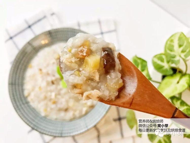 宝宝辅食:栗子鸡丝粥-栗子粉糯,香菇鲜美,加上高蛋白的鸡肉,营养美味,老少皆宜!11M+