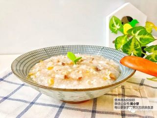 宝宝辅食:栗子鸡丝粥,好啦