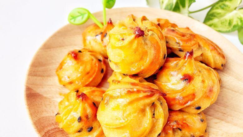 宝宝辅食:红薯芝麻曲奇