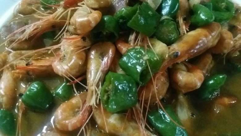 火腿青椒大汤烧沼虾