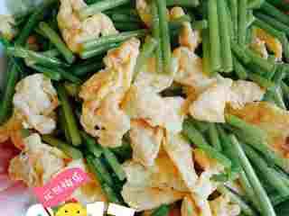 蒜苔炒鸡蛋#乐享双节#