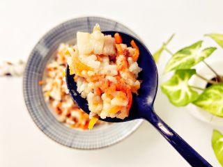 宝宝辅食:省力又好吃的橙色能量饭,香香甜甜又鲜鲜。
