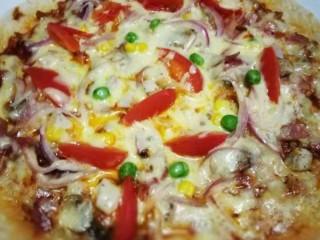 萨拉米白香肠培根薄底披萨(平底锅版)