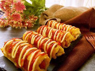 黄金吐司卷,美美哒