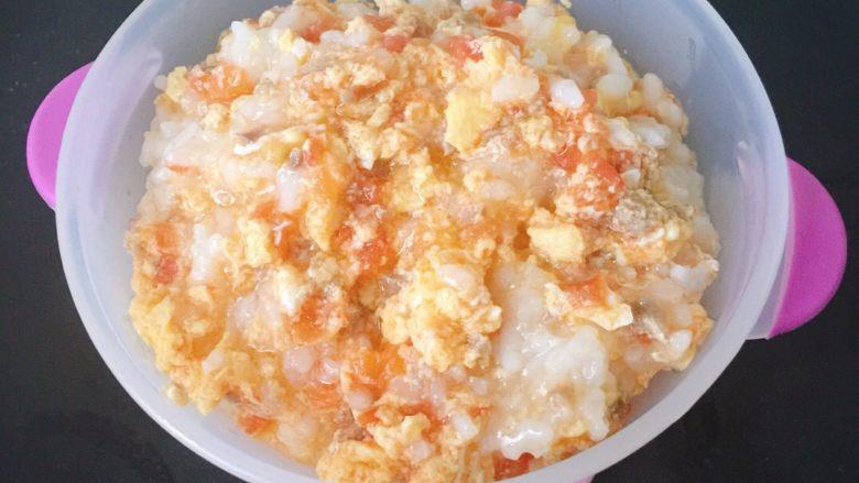 番茄鸡蛋牛肉丸拌软饭🍲🍲