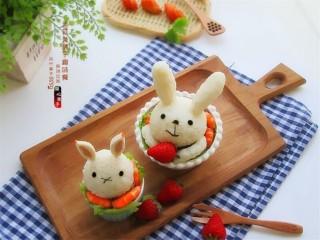 米菲兔杯子趣味餐,成品图