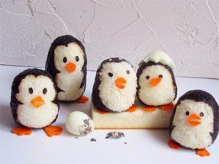 可爱的企鹅饭团,哇!萌萌哒,是不是更可爱了,