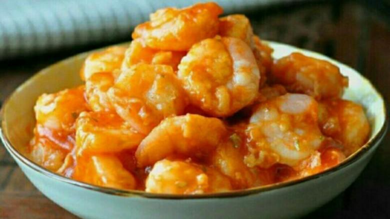 番茄酱炒虾仁